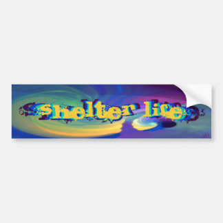 Sheltered Life Abstract Art Bumper Stickers
