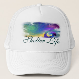 Sheltered Life Abstract Art Trucker Hat