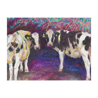 Sheltering cows 2011 canvas print