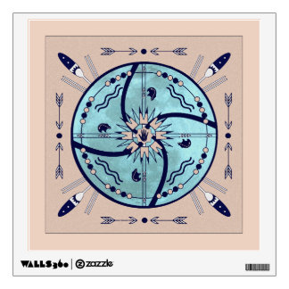 Sheltering Moon Mandala Native Symbols Decal