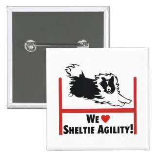 Sheltie Agility Love Button