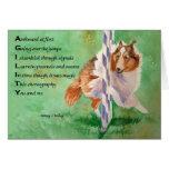 Sheltie Agility Poem Greeting Card