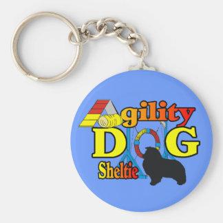 Sheltie Agility Shetland Sheepdog Gifts Basic Round Button Keychain