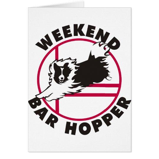Sheltie Agility Weekend Bar Hopper Card