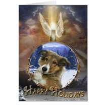 Sheltie Angel Card