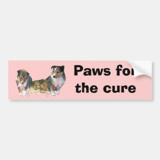 Sheltie Breast Cancer Bumper Sticker