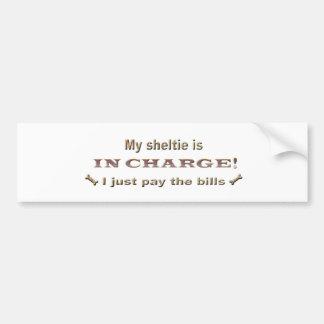 sheltie bumper sticker