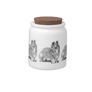 Sheltie Candy Dishes