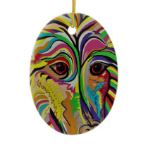 Sheltie Ceramic Ornament