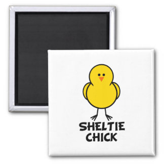 Sheltie Chick 2 Inch Square Magnet
