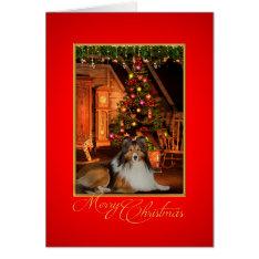 Sheltie Christmas Card at Zazzle