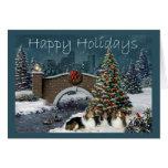 Sheltie Christmas Card Evening