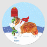 Sheltie Christmas Mail Sable Gift Tags Stickers