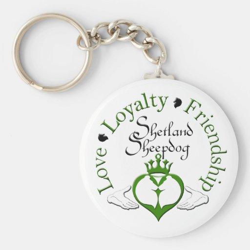 Sheltie Claddagh Keychain