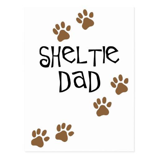 Sheltie Dad Postcard