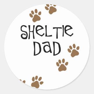 Sheltie Dad Round Stickers
