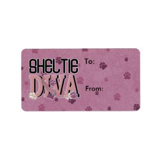 Sheltie DIVA Label