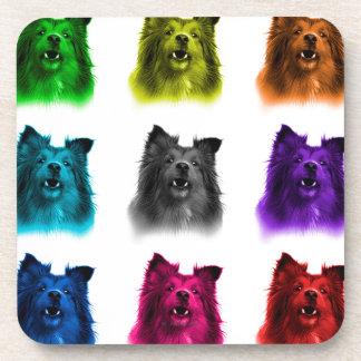 Sheltie dog art 0207 WB Beverage Coaster