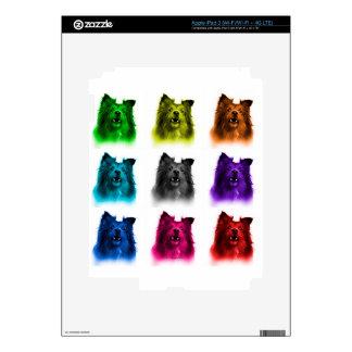 Sheltie dog art 0207 WB iPad 3 Decal
