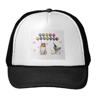 Sheltie Dog Happy New Year Trucker Hat