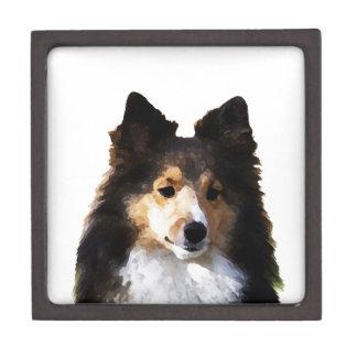 Sheltie Dog painting sketch Gift Box
