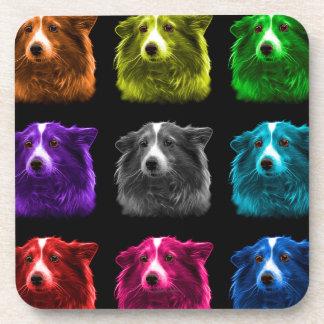 Sheltie dog pop art 9973 bb coaster