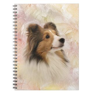 Sheltie face notebook
