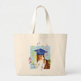Sheltie Graduate Large Tote Bag