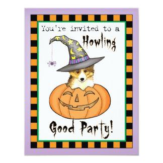 Sheltie Halloween Card