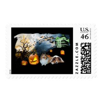 Sheltie Halloween Postage