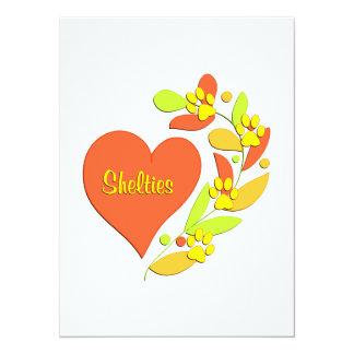 Sheltie Heart Custom Announcement Card
