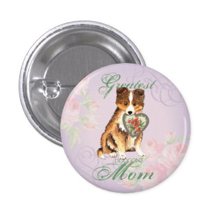 Sheltie Heart Mom Button