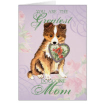 Sheltie Heart Mom Card