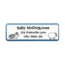 Sheltie Herding Sheep Label
