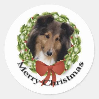 Sheltie Holiday #1 Sticker