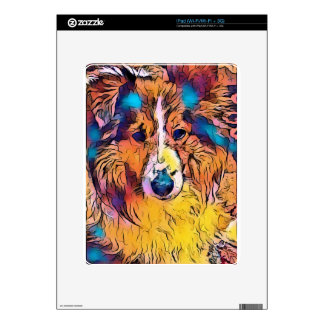 Sheltie image decal for the iPad