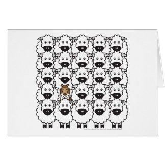 Sheltie in the Sheep Greeting Card