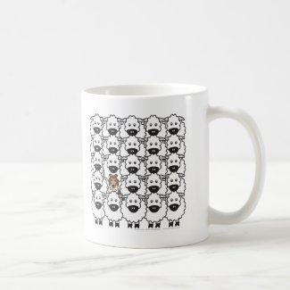 Sheltie in the Sheep Classic White Coffee Mug