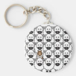 Sheltie in the Sheep Key Chain