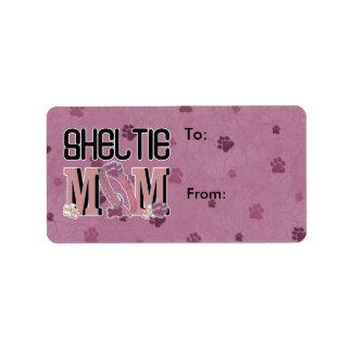 Sheltie MOM Label