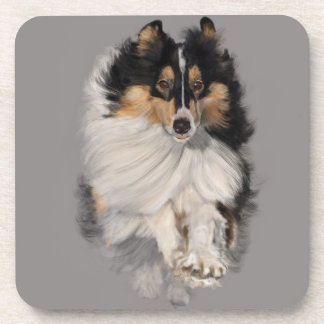 Sheltie on the Move Drink Coaster