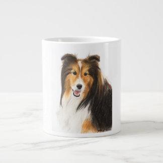 Sheltie or Shetland Sheepdog Painting Large Coffee Mug