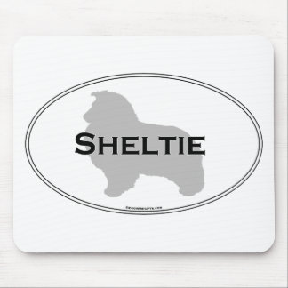 Sheltie Oval Mouse Pads