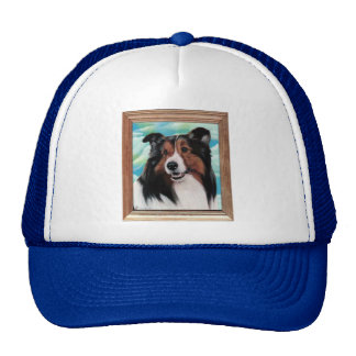 Sheltie Painting Hat Designs