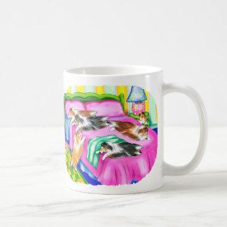 Sheltie Pink Comfort Classic White Coffee Mug