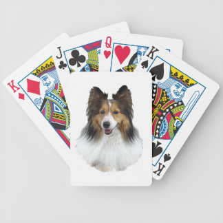 Sheltie Portrait Bicycle Playing Cards