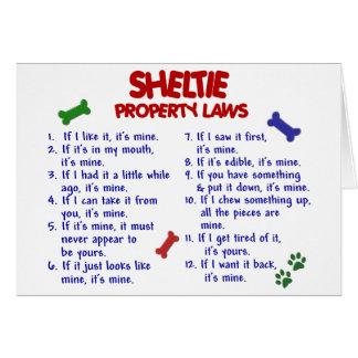 SHELTIE Property Laws 2 Card