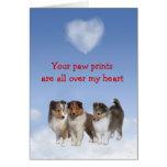 Sheltie Puppy Love Card