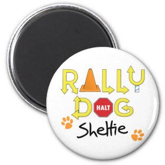 Sheltie Rally Dog 2 Inch Round Magnet