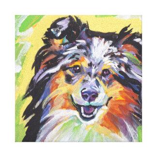 Sheltie Shetland Sheepdog Colorful Pop Dog Art Canvas Print